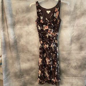 Neutral Floral Print Dress by Ann Taylor aloft